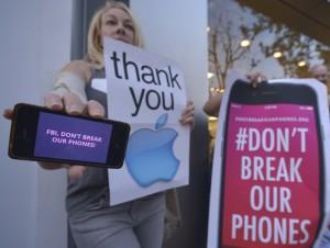 Apple San Bernardino tech protest